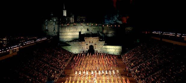Edinburgh Military Tattoo. A festival spectacle global in design is this