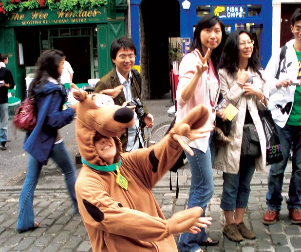 Five festival people: The Street Performer