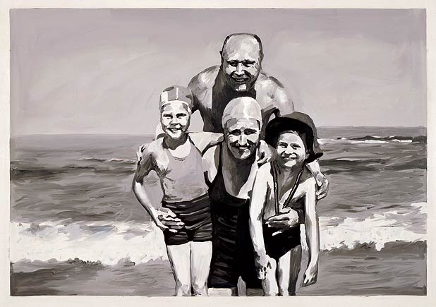 Gerhard Richter: Familie am Meer (Family at the Sea)
