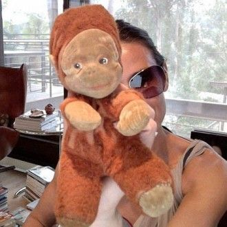 Demi Moore with Curious George