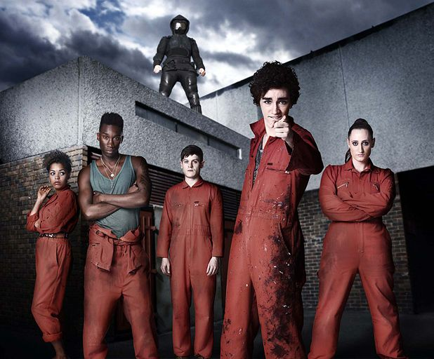 Series 2 of Misfits features a grizzled Dexter Fletcher