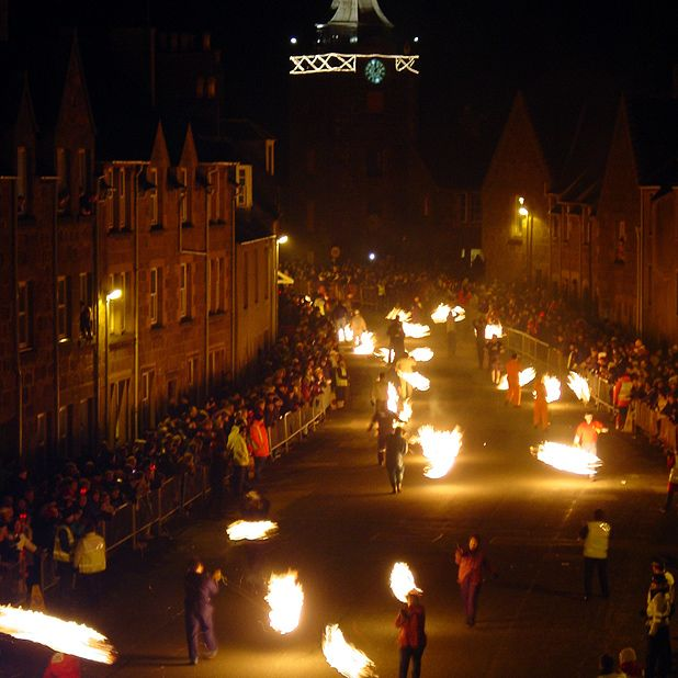 Traditional Hogmanay events around Scotland