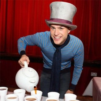 Olly Murs setting a new Guinness World Record for making 496 cups of tea in one sitting