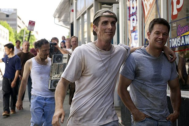The Fighter stars Christian Bale and Mark Wahlberg as boxing half-brothers