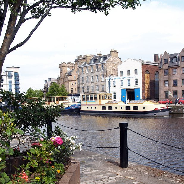 Modern day Leith is now home to Michelin-starred restaurants
