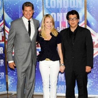 Amanda Holden, Michael McIntyre and David Hasselhoff
