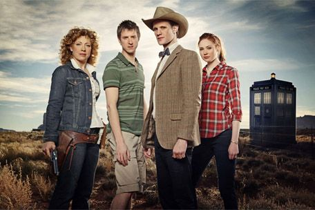 The Doctor with his companions