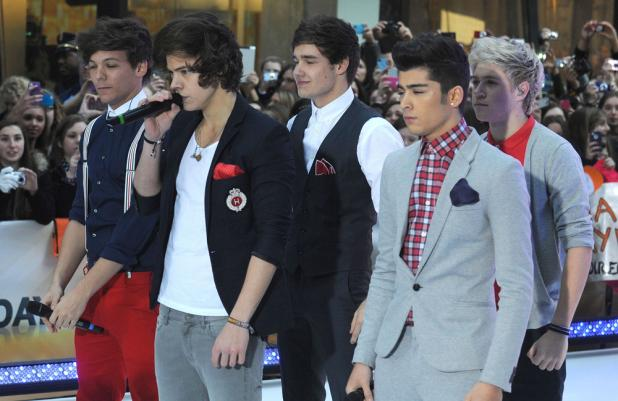 One Direction performing on Today show