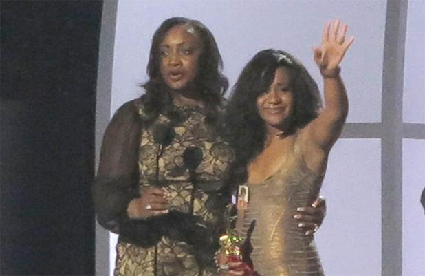 Bobbi Kristina Brown accepting Millennium Award