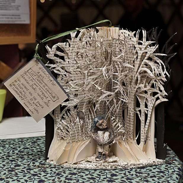 Anonymously-created book sculptures to tour UK