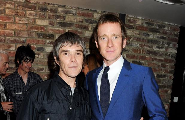 Ian Brown with Bradley Wiggins