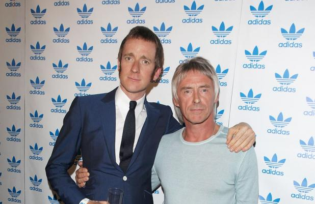 Bradley Wiggins with Paul Weller
