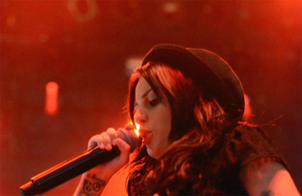 Cher Lloyd performing at V Festival