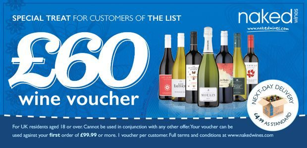 £60 voucher for Naked Wines
