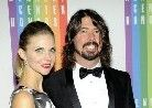 Dave Grohl with his wife Jordyn Blum