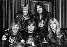 Iron Maiden with Clive Burr (left)