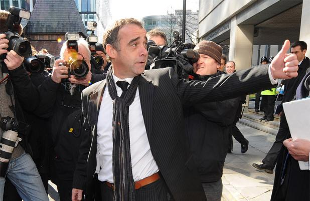 Michael Le Vell outside Manchester Crown Court