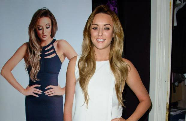 Geordie Shore star Charlotte Crosby in Ashbourne