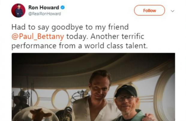 Paul Bettany wraps up Star Wars Han Solo film shoot