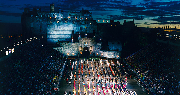 The Edinburgh Military Tattoo displays the musical talent of the British